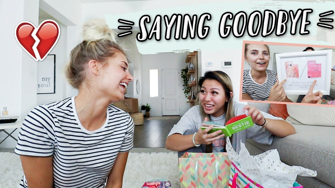 Saying Goodbye To My Best Friend Giving Her Moving Away Presents Youtube