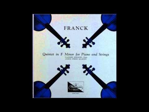 Franck, Piano Quintet in F, curtis quartet and Vladimir sokoloff, piano