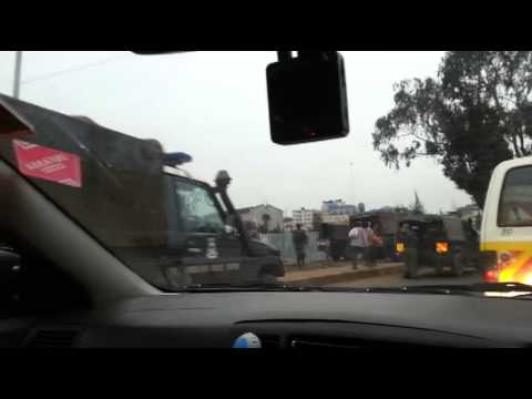 Police @ Globe roundabout katanuka - In car Cam