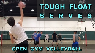 TOUGH FLOAT SERVES - Open Gym Volleyball Highlights (3/30/17) part 2
