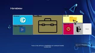 Dark Software Homebrew for PS4 (5.05 Jailbreak)
