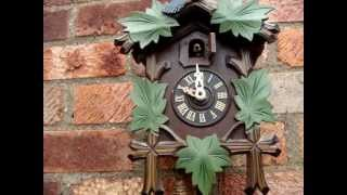 Vintage Chain  /  Weight  Cuckoo Clock  German Made Working Order