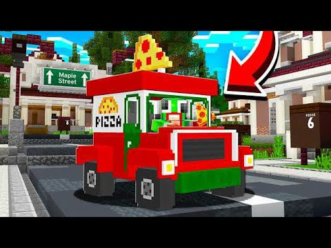 delivering pizza in minecraft
