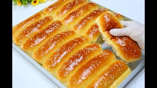 The beautiful milk bread is crisp and very light for breakfast