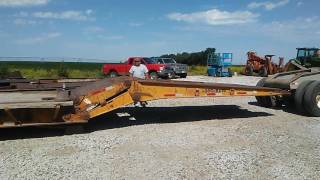 Download Video 1984 Load King Drop Down Neck Heavy Haul Low Boy W/ Stinger and Jeep Video #1 MP3 3GP MP4