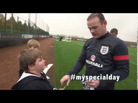 My Special Day Young fan meets his hero Wayne Rooney