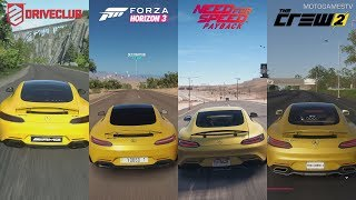 DriveClub vs Forza Horizon 3 vs NFS Payback vs The Crew 2 - Mercedes-AMG GT Sound Comparison