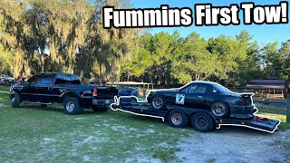 homepage tile video photo for FIRST TOW With The CUMMINS Swapped FORD! How Will It Do!? Fummins Build Pt.21