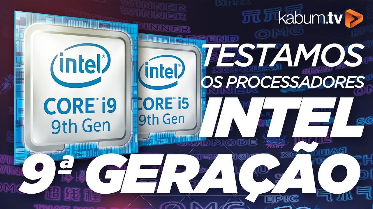 I9-9900K E I5-9600K DA INTEL 9ª GERAÇÃO - Vale a pena?  #KabumTV #Review