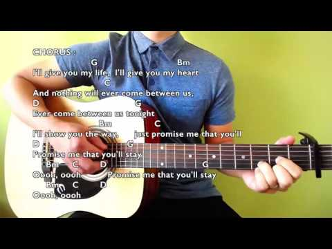 If You Stay - Joseph Vincent - Guitar Chords & Lyrics (Play-Along Cover)
