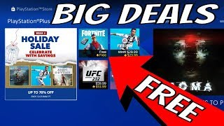 NEW PS4 GAME Discount 50% OFF - PS PLUS FREE FORTNITE ADD ON EXCLUSIVE Week 2 Holiday Sale