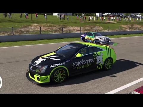 Forza 6 Online Drift Session Monster Energy Cadillac Cts V Ep