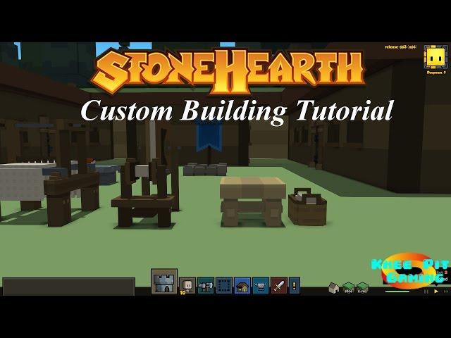 Stonehearth Gameplay - Custom Building Design