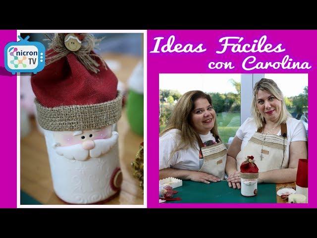 Ideas Fáciles NICRON TV Cómo modelar lata navideña en Porcelana Fría
