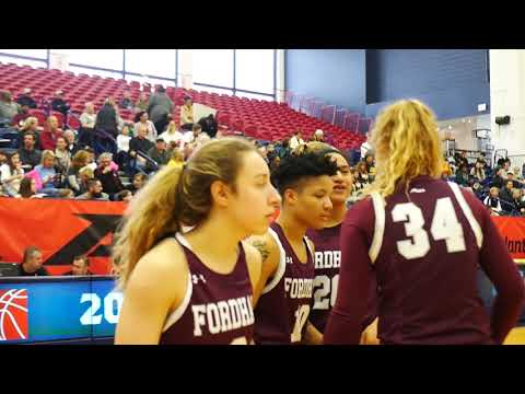 The 2019 Fordham Women's basketball took down their Regular Season Co-Champion VCU Rams to capture the A10 Tournament Championship.