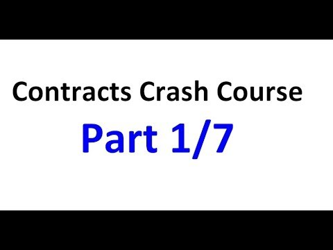 Contracts - Exam Crash Course Part 1/7