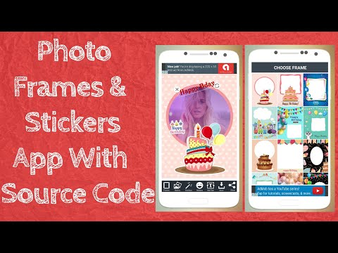 How To Make | Photo Frames |& | Photo Stickers | App In Android Studio With| Source Code |
