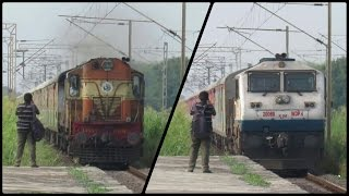 Diesels In Action..!! Two Back to Back LHB Trains Rushing With Alco And EMD