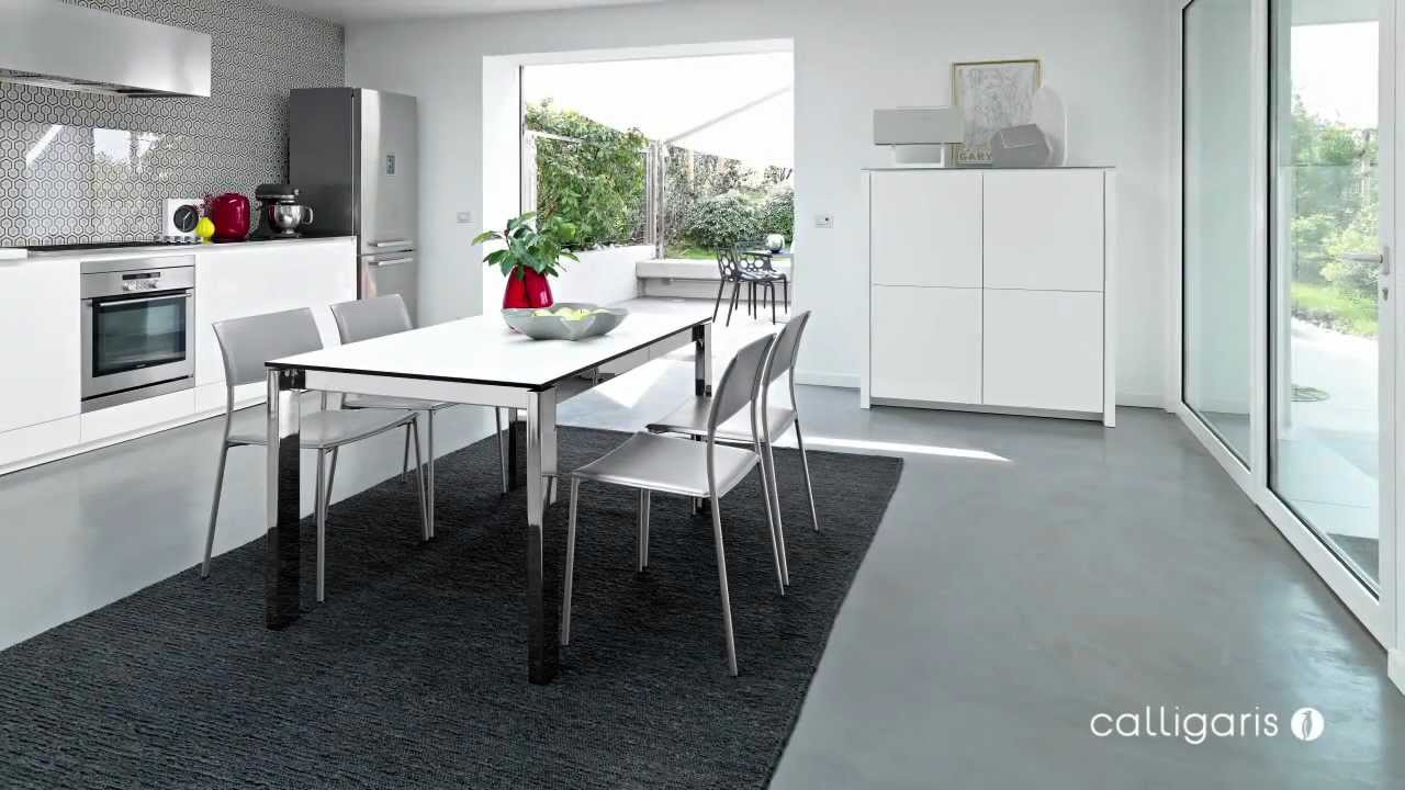 Calligaris tavoli ingegno by bergamin youtube for Arredamenti bergamin