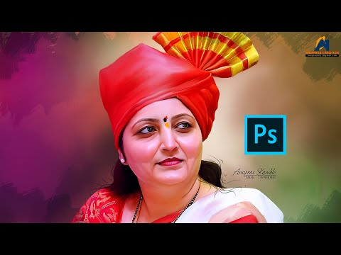 Rupali Chakankar Digital Painting in Adobe Photoshop | Smudge Painting Tutorial in Photoshop