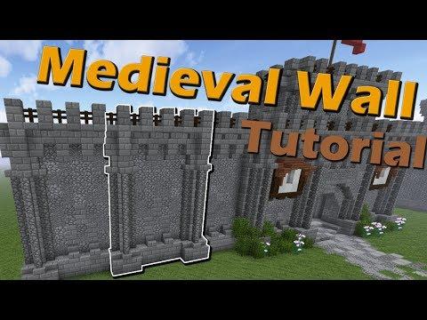 Super Simple Medieval Wall Tutorial Minecraft 1 12 2 Creative
