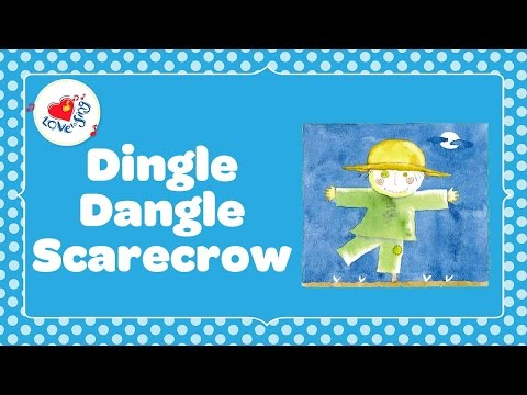 Dingle Dangle Scarecrow | Kids Action Song with Lyrics| Children Love to Sing