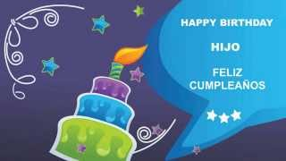 Hijo   Card Tarjeta - Happy Birthday