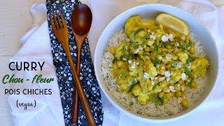 VEGAN : Curry de Chou-fleur et Pois chiches aux Cacahuètes [CC]