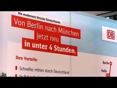 Berlin–München unter vier Stunden: Schnellfahrstrecke eröffnet