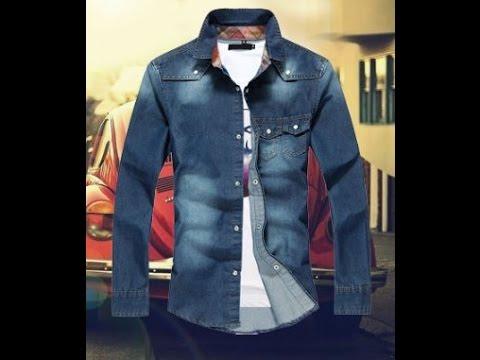 Джинсовые рубашки с длинным рукавом. Стильная мужская, джинсовая рубашка - тренд 2015 года