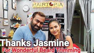ASMR Thai Beard Trimming with Scissor by Jasmine at Hair Topia - Thailand Series