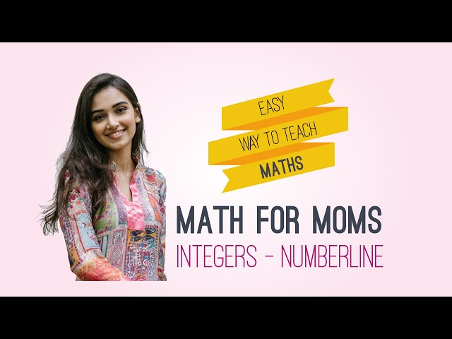 E 1: Teach math: Integers (Numberline) - Please read description before watching video
