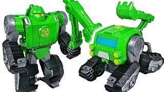 Villain attack Paw Patrol in tank! Transformers Rescue Bots Boulder, Optimus Prime! Go! - DuDuPopTOY