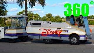 Tram to Magic Kingdom front gate 360˚ 4K Walt Disney World