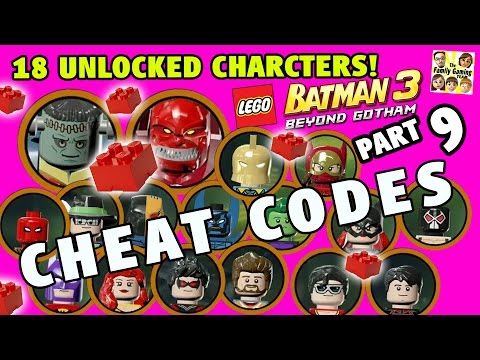 Lego Batman 3 Cheat Codes! 18 Characters Unlocked + 5 Red Br