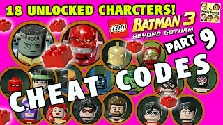 Lego Batman 3 Cheat Codes! 18 Characters Unlocked + 5 Red Bricks (Beyond Gotham Part 9)