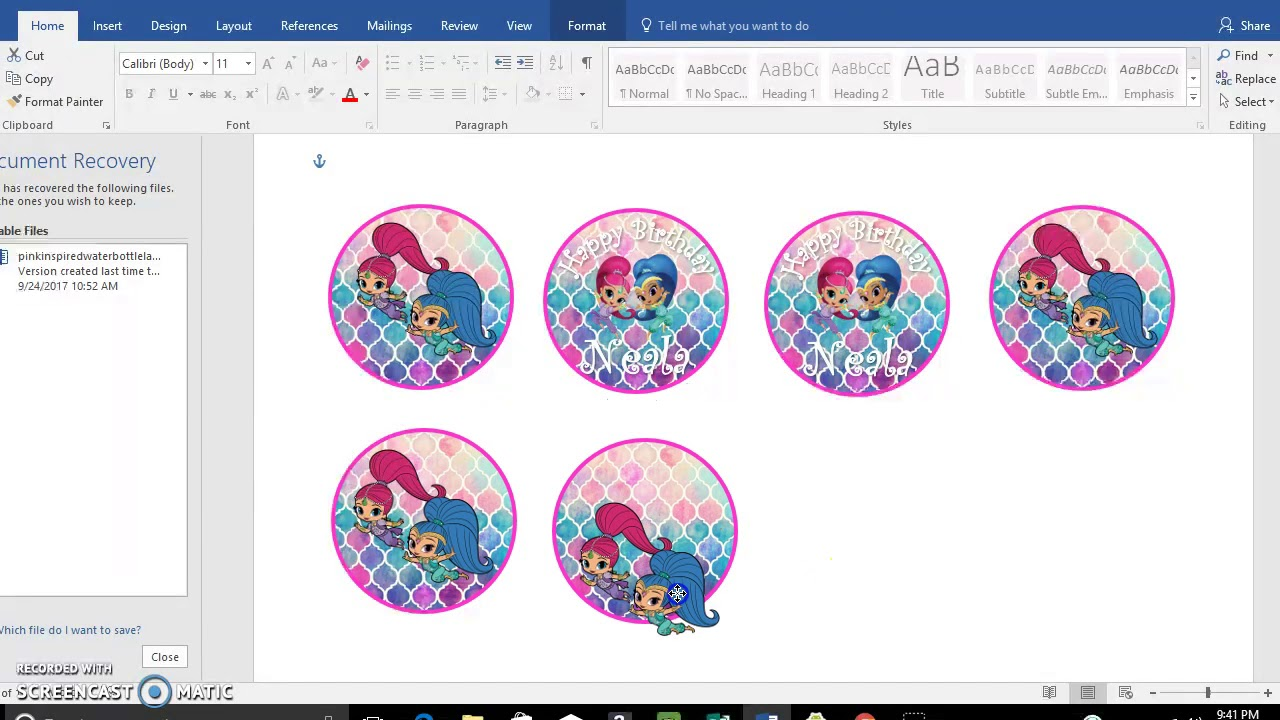 Cupcake Toppers Shimmer and Shine template, Diy, Tutorial - YouTube