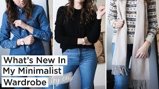 WHAT'S NEW IN MY MINIMALIST WINTER WARDROBE   try-on & styling