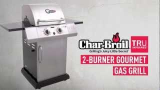 char broil tru infrared gourmet t 22d 2 burner gas grill