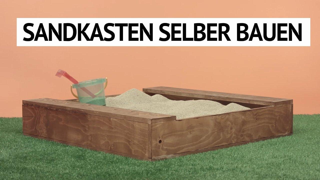 sandkasten selber bauen. diy tutorial - youtube