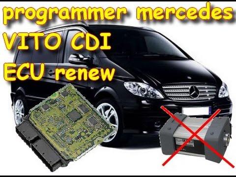 mercedes ECU renew don't need start diagnostic