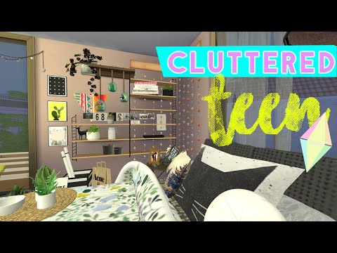 CLUTTERED TEEN BEDROOM | The Sims 4