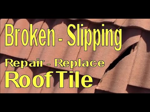 Repair Replace Broken And Loose Concrete Roofing Tile