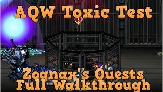 aqw toxic test full walkthrough join charredpath   zognax s quests
