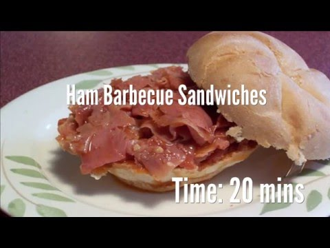 Ham Barbecue Sandwiches Recipe