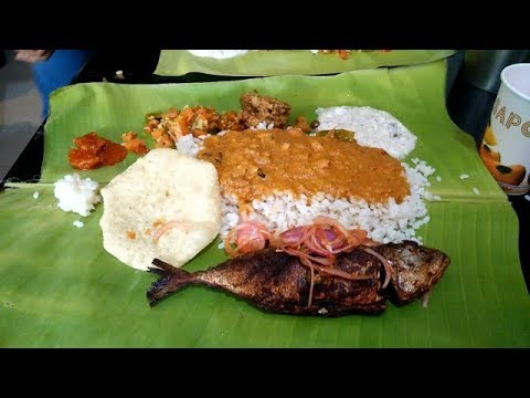 Eating  Cheapest South Indian Fish Thali Rs 90/FishThali Only Rs 90 In Bengaluru/South India
