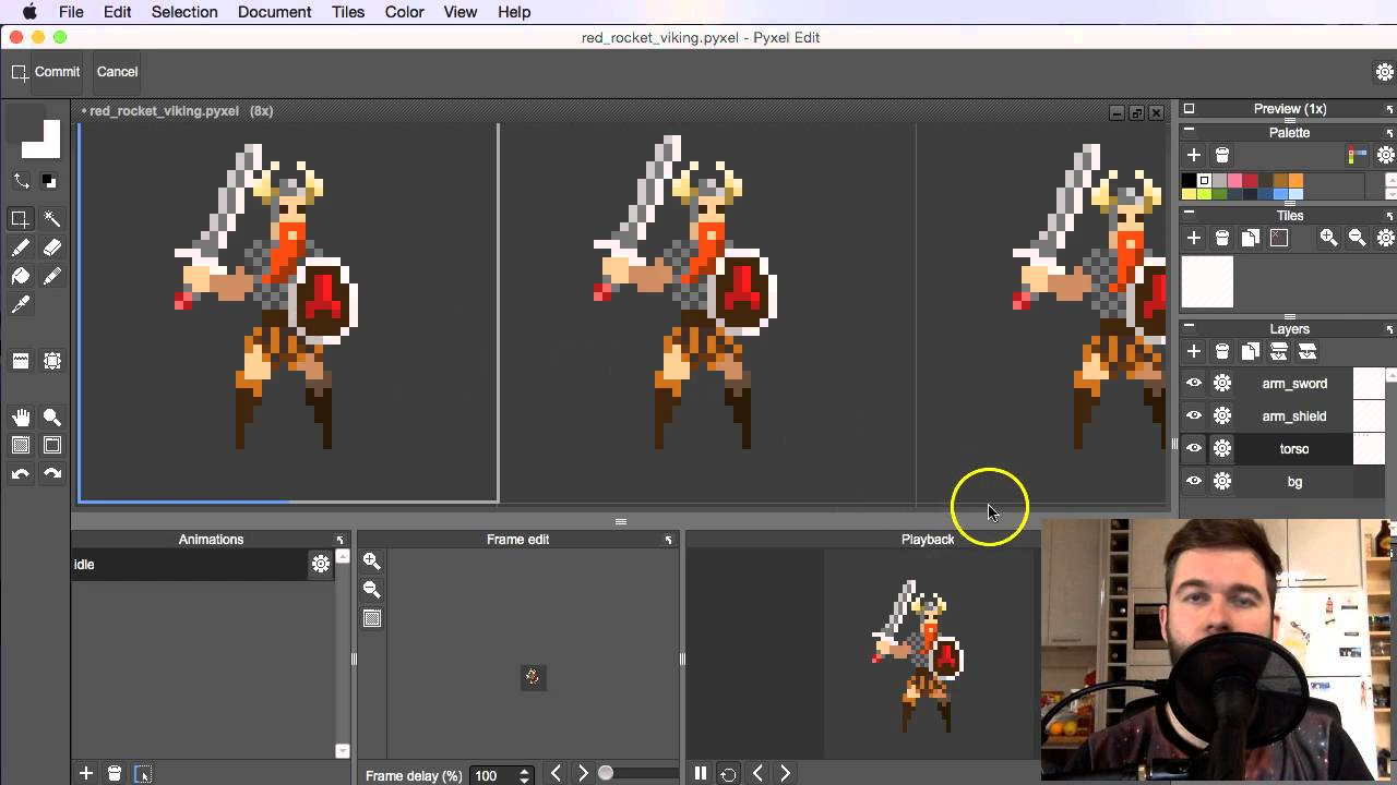 how to pixel art tutorial part 15 idle animation youtube