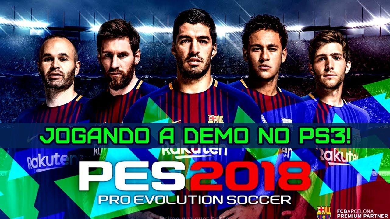 PES 2018: jogando a nova demo no Playstation 3 [Brasil x Argentina]