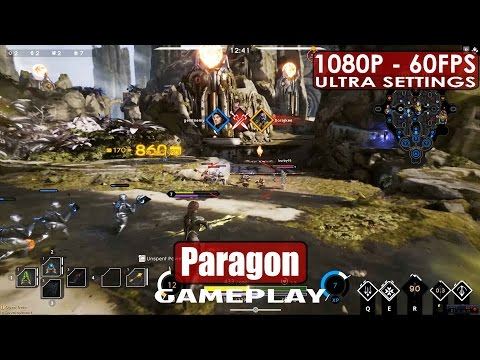 Paragon gameplay PC HD [1080p/60fps] Free To Play MOBA