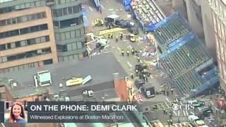 "Boston marathon bombing witness: ""I was very lucky today"""